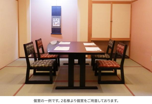 懐石料理 萩個室一例